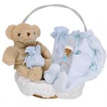 Canastilla Clásica Esencial con Oso Teddy