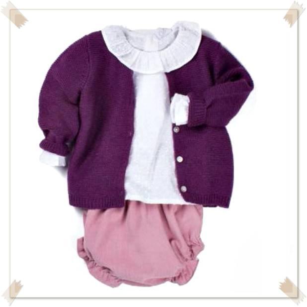 Conjunto ropa niña pololo rosa