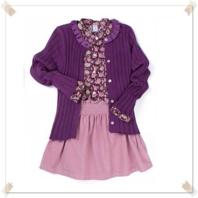 Conjunto ropa niña falda rosa