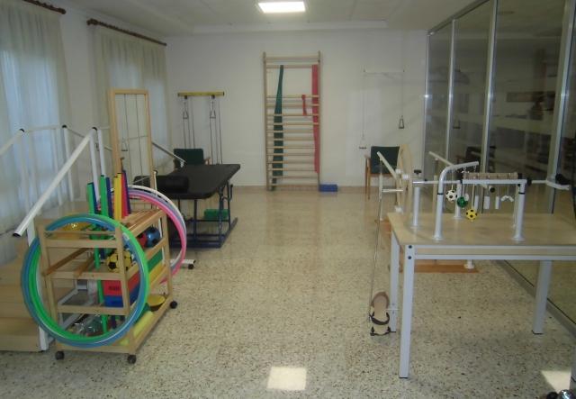 Gimnasio y sala de terapia ocupacional