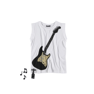 Air Guitar Fold Tee (white)