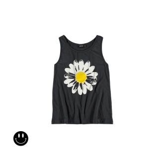 Daisy Vest Girl Tee (asphalt)