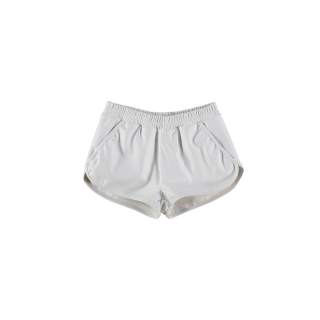 False Leather Shorts (white)