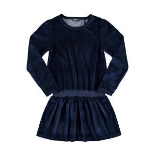 Fleece Velvet Dress (navy)