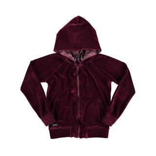 Fleece Velvet Hoodie (dark garnet)
