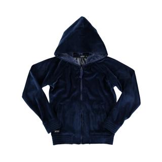 Fleece Velvet Hoodie (navy)