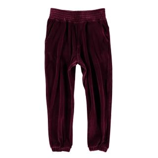 Fleece Velvet Pants (dark garnet)