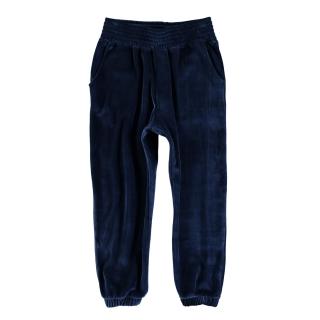 Fleece Velvet Pants (navy)
