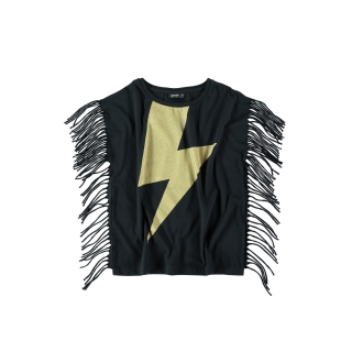 Fringed Tee (black)