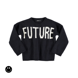 Future-Past Tricot Sweater (navy)