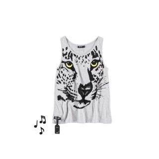 Leopard Vest Girl Tee (melange)