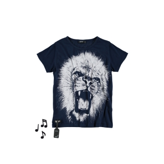Lion Tee (deep blue)