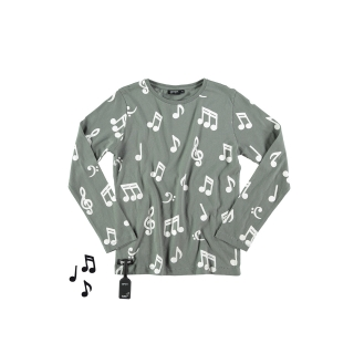 Musical Notes Tee (anthracite)