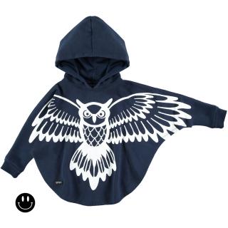 Owl Poncho (navy)