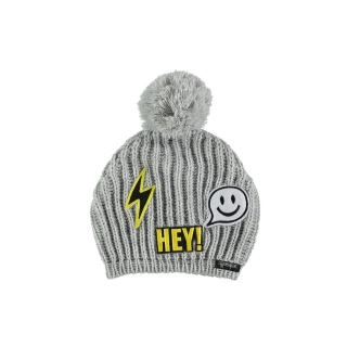 Patch Bobble Beanie (light melange)
