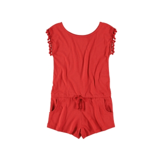 Pom Pom Jumpsuit (red)