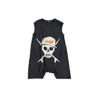 Skull Baby Overall (asphalt)