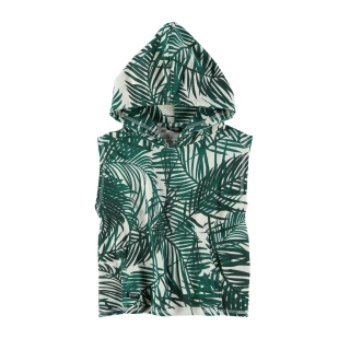 Sleeveless Hoodie (palms)