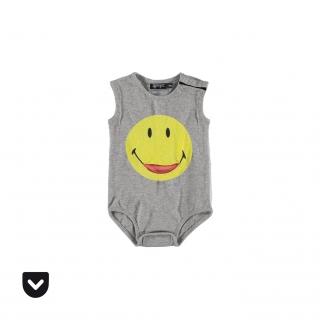 Smiley Pocket Baby Body (melange)