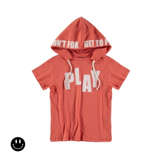 Play Hooded Tee (paprika)