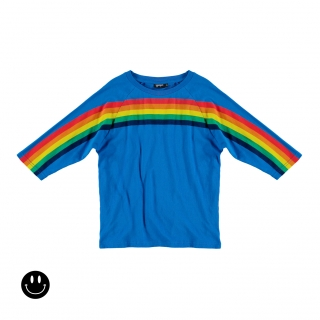 Rainbow Raglan Tee (primary blue)