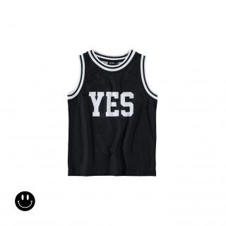 Yes&No Vest Tee (black)