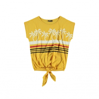 Palms Knot Tee (yellow)