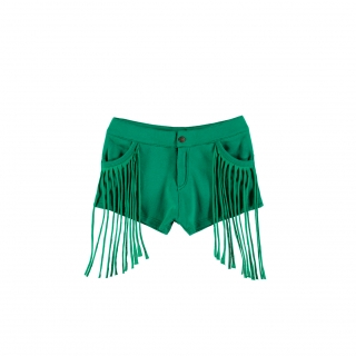 Fringed Mini Jeans (primary green)