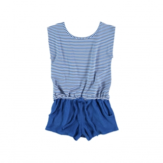 Towel Jumpsuit (primary blue)