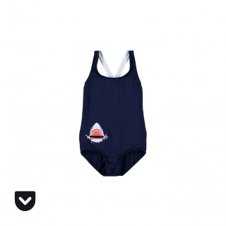 Shark Pocket Swimsuit (navy)