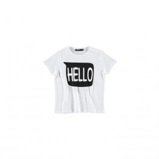Hello Bye Baby Tee (white)