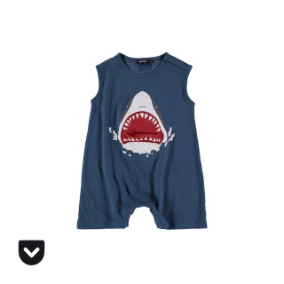 Shark Baby Overall (navy)