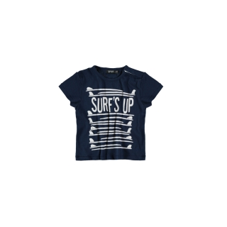 Surf Up Baby Tee (deep blue)