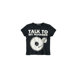 Talk To… Baby Tee (black)