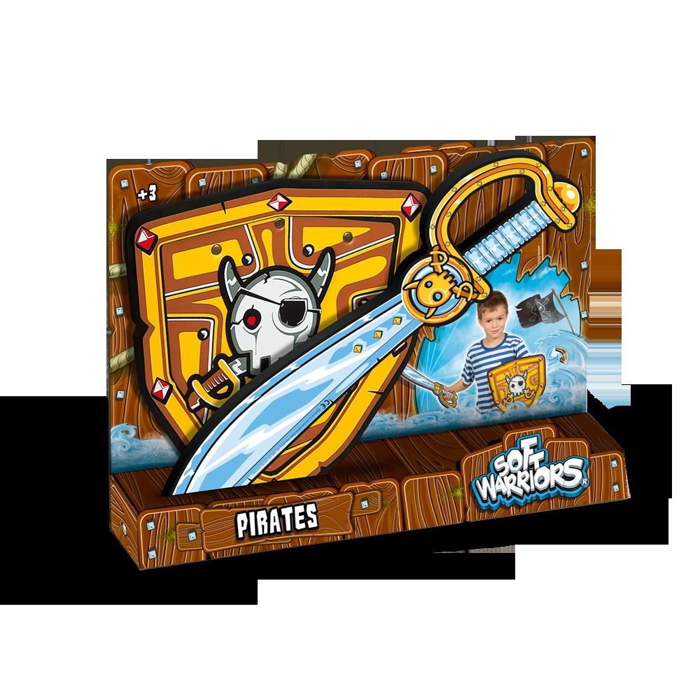 Pack espada y escudo Pirata