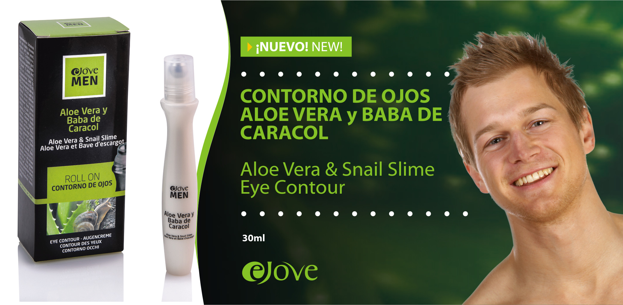 Contorno de Ojos Roll On Linea Men