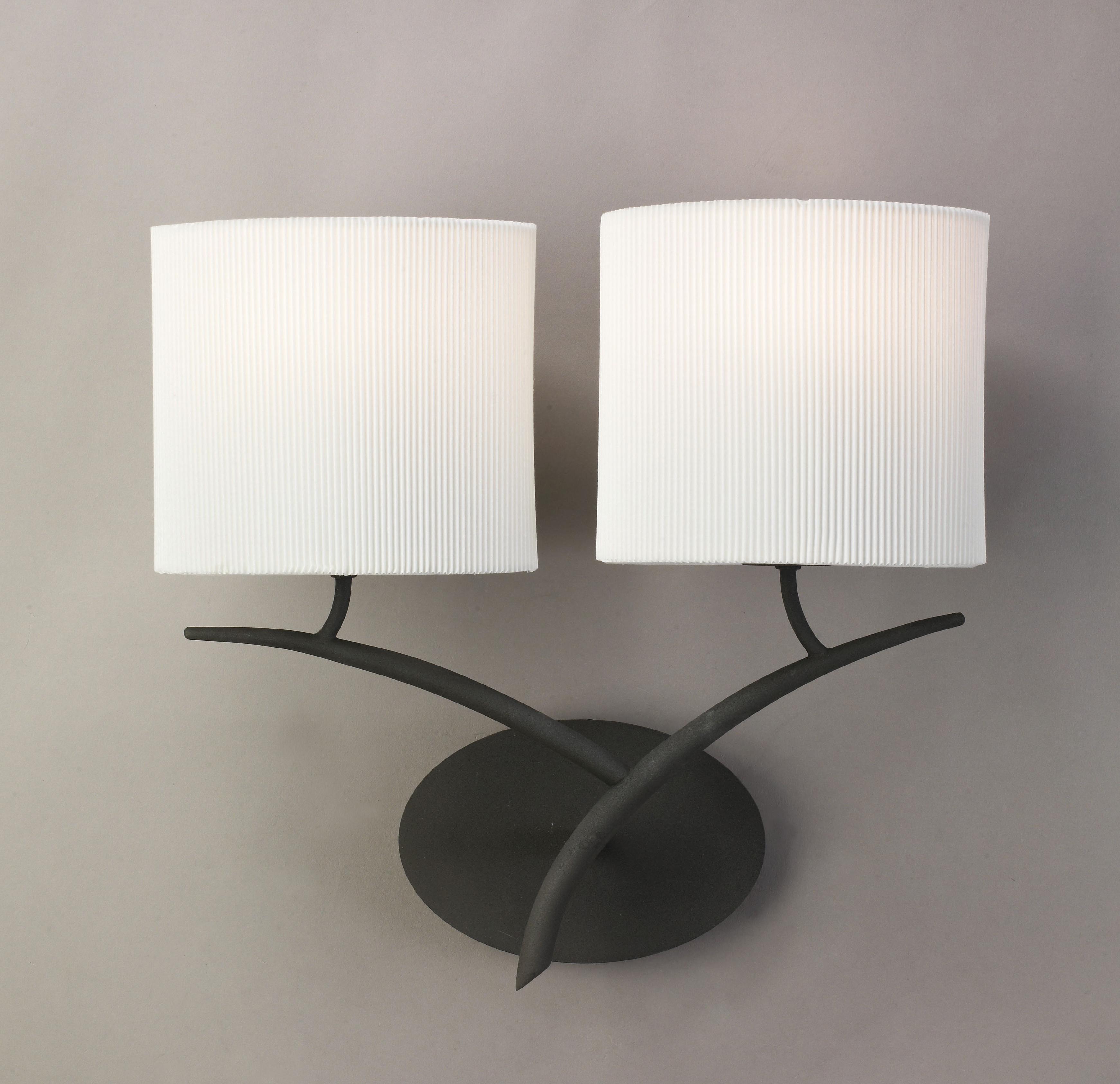 aplique de pared de dos luces eve de mantra referencia
