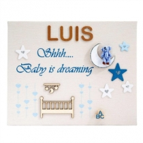 Cuadro Personalizado Baby Dreaming Azul