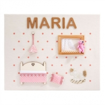 Cuadro Personalizado Little Room Rosa