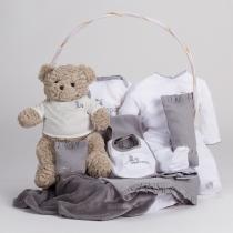 Canastilla Clásica con Oso Teddy