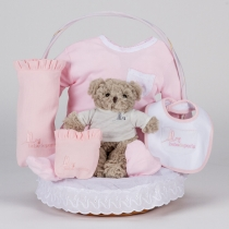 Canastilla Clásica Esencial con Osito Teddy