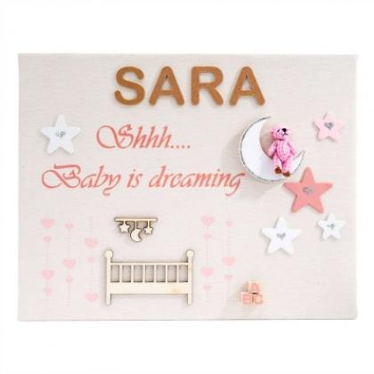 Cuadro Personalizado Baby Dreaming Rosa
