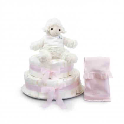 Sweet Sheep Nappy Cake