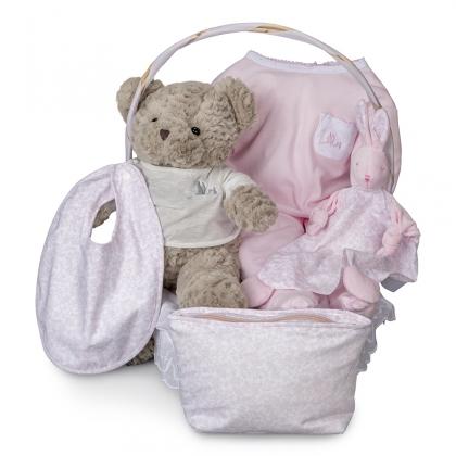Vintage Essential Baby Gift Basket