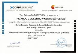 TITULO EUROPEO SUPERIOR DE SEGURIDAD CONTRA INCENDIOS