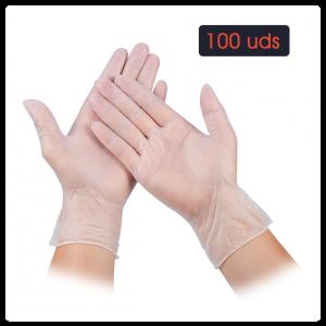 Guantes de VINILO con polvo (caja de 100 uds)