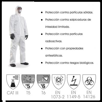 Traje de protección biológica Categoria III