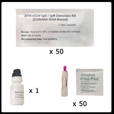 Test rápido de diagnóstico COVID-19 IgM/IgG