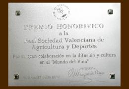 Reconocimiento al Casino de Agricultura del Club de Enófilos Valencia