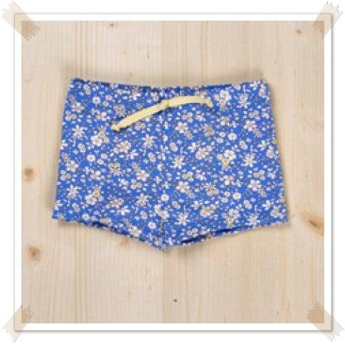 Bañador boxer azul flores